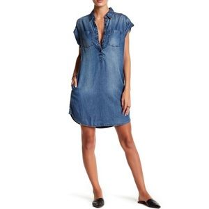 Lucky Brand Denim Shirtdress Tunic Dress S